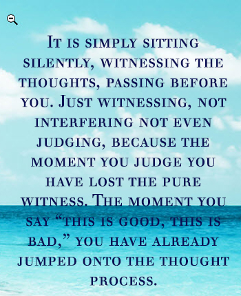 witness quote by Osho